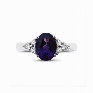 Amethyst & Diamond Trefoil Ring - 1.50ct
